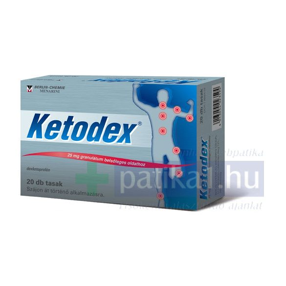 Ketodex 25 mg granulátum belsőleges oldathoz 20 db