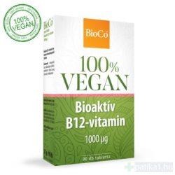 BioCo Vegan bioaktív B12 1000 mcg tabletta 90 db 100% vegán