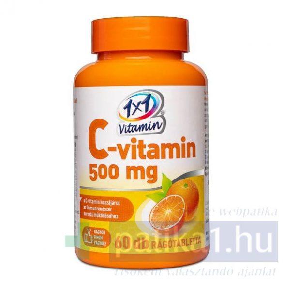 Vitaplus 1x1 Vitaday C-vitamin 500 mg rágótabletta 60 db narancs