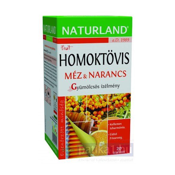 Naturland Homoktövis Méz & Narancs gyümölcsös ízélmény filteres tea 20x2g