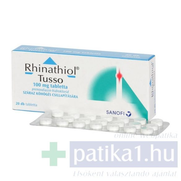 Rhinathiol Tusso 100 mg tabletta 20 db