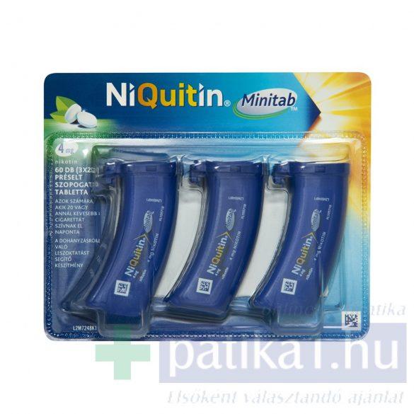 Niquitin Minitab 4 mg préselt szopogató tabletta 1,5 mg 3x20 db