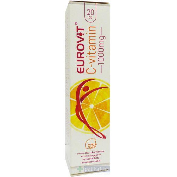 Eurovit C-vitamin 1000 mg pezsgőtabletta citromos 20 db