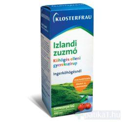 Klosterfrau Izlandi zúzmó szirup gyerekeknek (cseresznyés) 100 ml