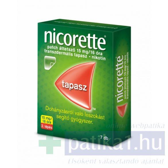 Nicorette patch áttetsző 15 mg/16 óra transz. tapasz 7 db 2. lépés