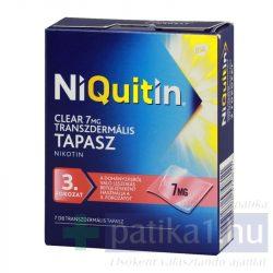 NiQuitin Clear 7 mg transzdermális tapasz 7 mg - dohányzásról leszoktatás 3. lépés