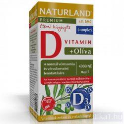 Naturland Olivalevél D-vitamin 4000 NE kapszula 60 db