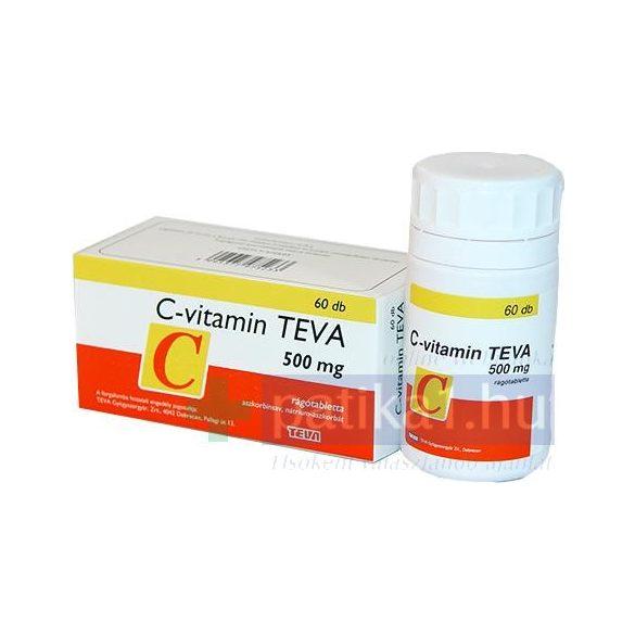 C-vitamin TEVA 500 mg rágótabletta 60 db