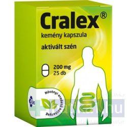 Cralex kemény kapszula (Carbo activatus) 25 db 200 mg