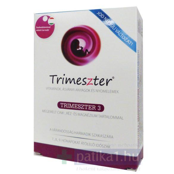 Trimeszter 3 vitamin tabletta várandósoknak jódmentes 60 db