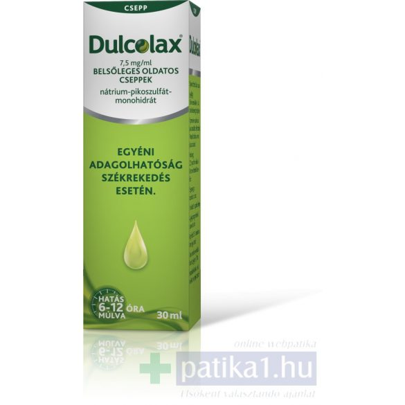 Dulcolax 7,5 mg/ml 30 ml belsőleges oldatos cseppek (Régi név: Guttalax)