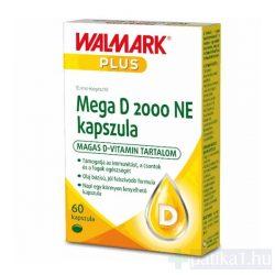 Walmark Mega D 2000 NE kapszula 60x - közeli lejárat 2021.08.31.