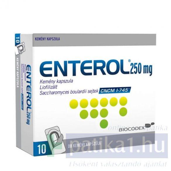 Enterol 250 mg kemény kapszula 10 db