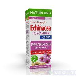 Naturland Echinacea + gyömbér csepp 30 ml