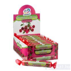 Vitaplus 1x1 Vitaday C-vitamin 100 mg rágótabletta cseresznye íz 17 db