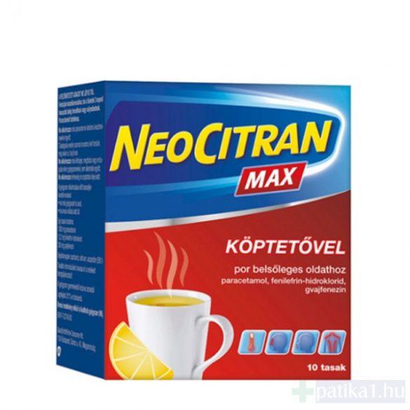 Neo Citran Max köptetővel por belsőleges oldathoz 10 db