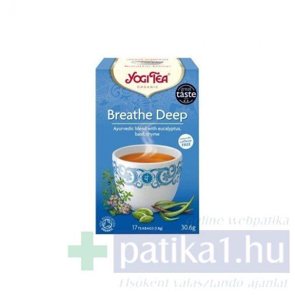 Yogi Bio mély lélegzet filteres tea 17 db - Breathe Deep