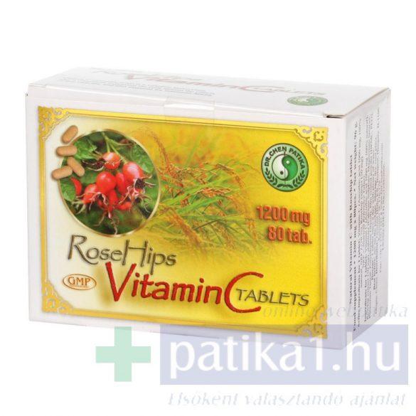 Dr. Chen Natúr C-vitamin 1200 mg csipkebogyó kivonattal 80 db
