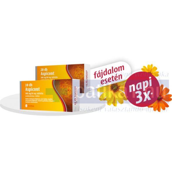 Aspicont 500 mg/50mg tabletta 20 db