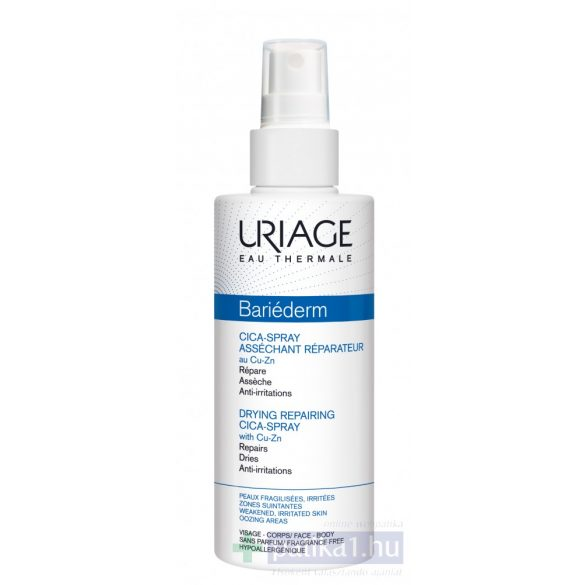 Uriage BARIÉDERM CICA CU-ZN Spray - Bőrirritációk ellen100 ml