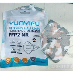 FFP2 Terepszínű szájmaszk 1 db CE 2163 5 db-os csomagolásban Yunyifu