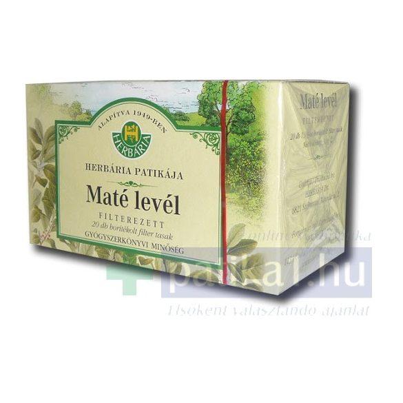 Mate tea Herbária filteres 20 db 1,5 g filter