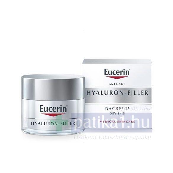 Eucerin® Hyaluron-Filler Ráncfeltöltő nappali arckrém száraz bőrre 50 ml