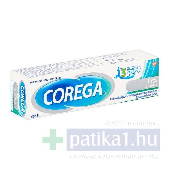 Corega műfogsorrögzítő krém ízmentes 40 g