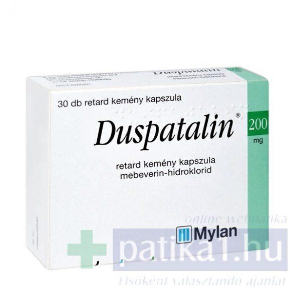 Duspatalin 200 mg retard kemény kapszula 30 db
