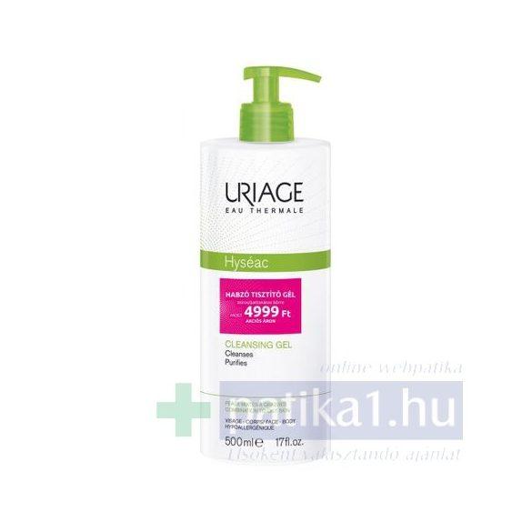 Uriage HYSÉAC Habzó tisztitó gél zsíros bőrre500 ml