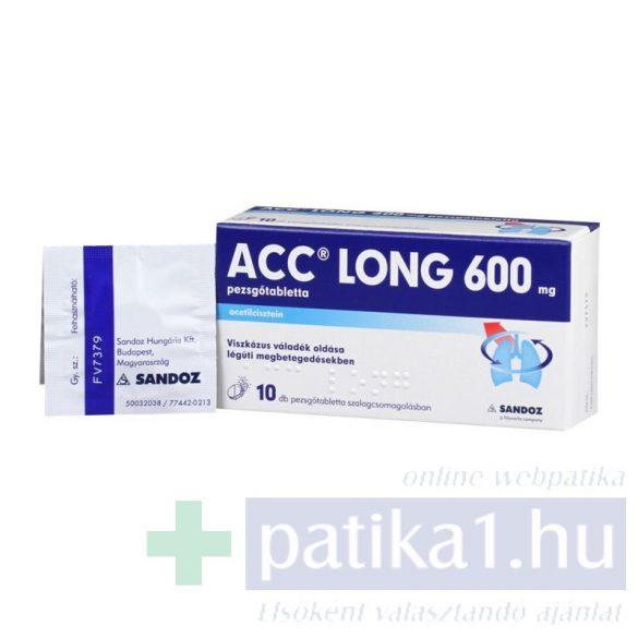 ACC 600 mg LONG pezsgőtabletta 10 db