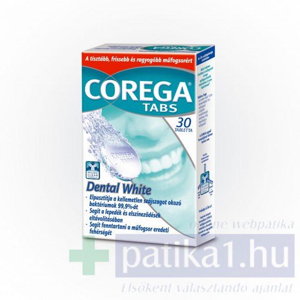 Corega Tabs Dental White tabletta fehérítő hatású 30 db
