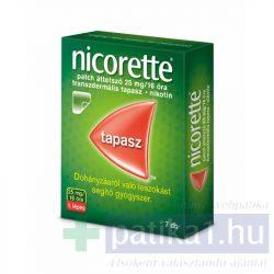 Nicorette patch áttetsző 25 mg/16 óra transz. tapasz 7 db 1 lépés