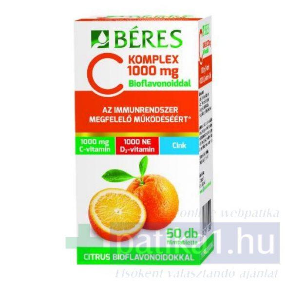 Béres C komplex 1000 mg C+D+Zn bioflavonoidokkal 50 db