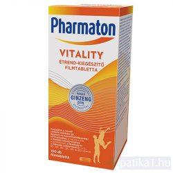 Pharmaton Vitality étrendkiegészítő tabletta 100 db