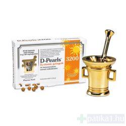 D-Pearls D3-vitamin 3200 gyöngykapszula 80x