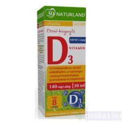 Naturland D3 vitamin étrendkiegészítő csepp 30 ml
