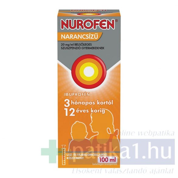 Nurofen 20 mg/ml belsőleges szuszpenzió gyermekeknek narancsízű 100 ml