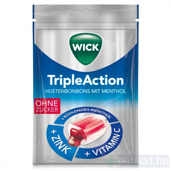 Wick Triple Action cukormentes torokcukor 72 g
