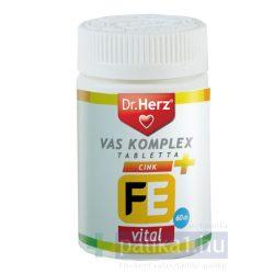 Dr. Herz Szerves vas komplex + cink 60 db tabletta