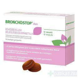 Bronchostop Duo köhögés elleni belsőleges gumipasztilla 20 db