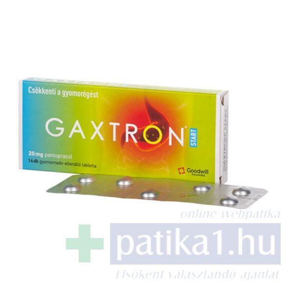 Gaxtron Start 20 mg gyomornedv-ellenálló tabletta 14 db
