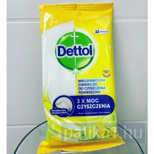 Dettol antibakteriális felülettisztító kendő Citrom Lime 32 db