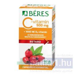 Béres C-vitamin 500 mg csipke D3 1000 NE retard filmtabletta 90 db
