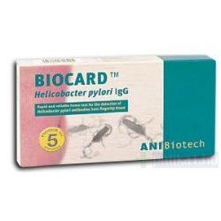 Biocard Helicobacter pylori IgG teszt 1x