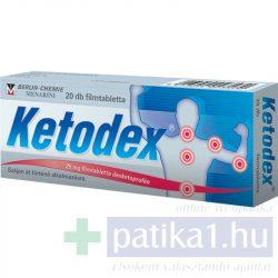 Ketodex 25 mg filmtabletta 20 db