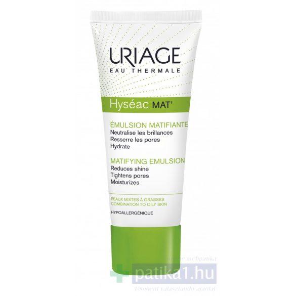 Uriage HYSÉAC MAT mattító krém zsíros bőrre40 ml