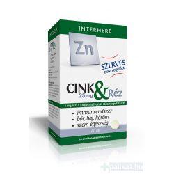 Interherb SZERVES Cink 25 mg & Réz tabletta 60 db