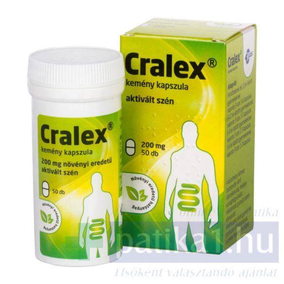 Cralex kemény kapszula (Carbo activatus) 50 db 200 mg
