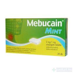 Mebucain Mint szopogató tabletta 2mg/1mg 20 db
